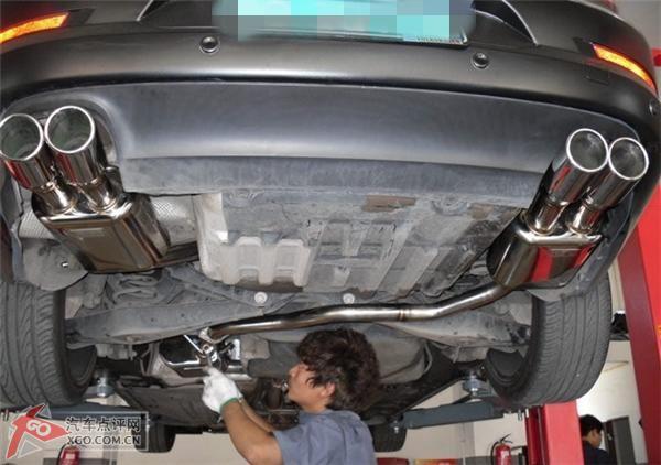 大众cc升级改装四出口排气管,高清图片