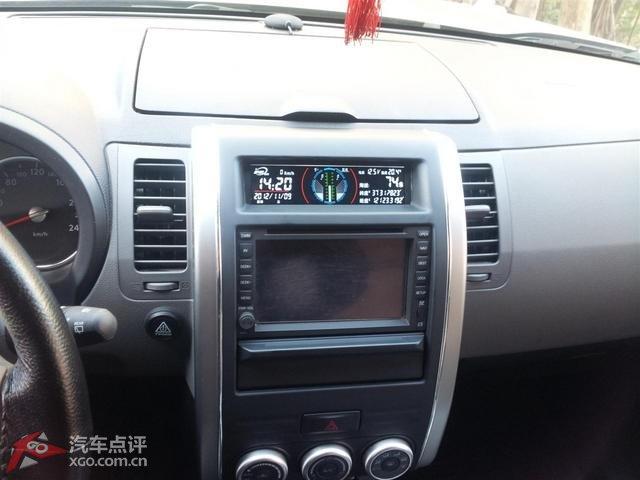 自拍奇骏加装汽车护航表,先看下成果图吧,我是安装在CD机位上高清图片