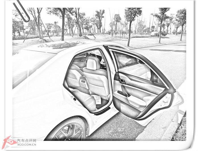 汽车内饰手绘线稿